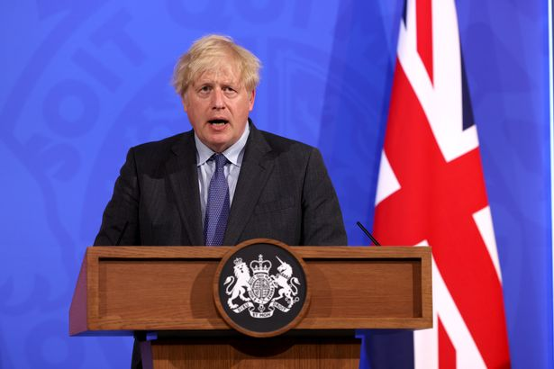 PM Boris Johnson press conference for England's lockdown easing announcement