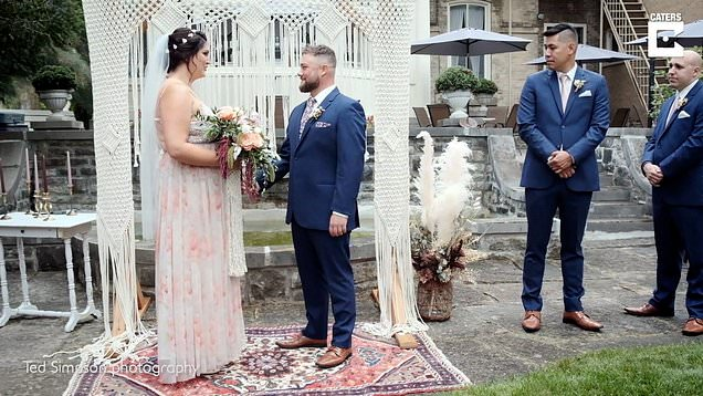 Bride who broke her back at traumatic birth walks down the aisle at her wedding