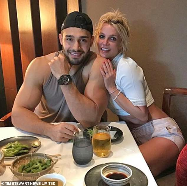 No proposal: Britney Spears is not yet engaged to boyfriend of almost five years, Sam Asghari, despite expressing her desire to marry the Iranian fitness model in court last month