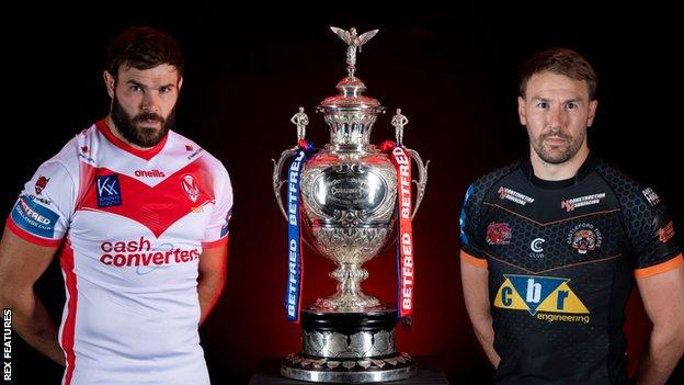 St Helens and Castleford Tigers have never met before in a major final