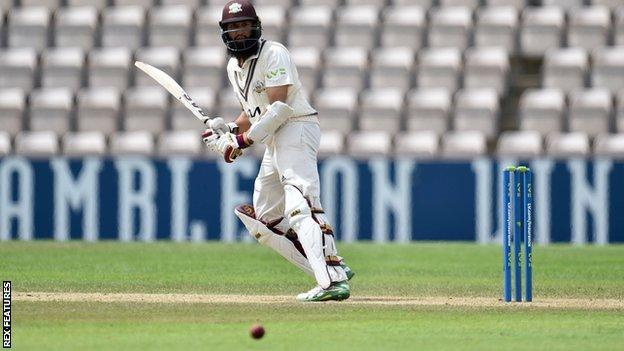 Hashim Amla batting for Surrey