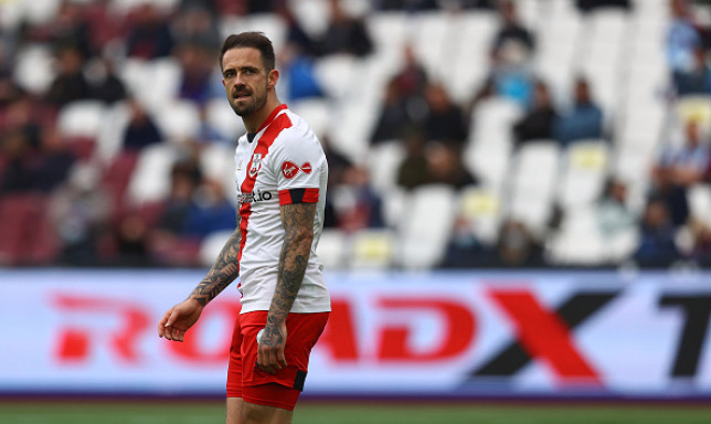 Manchester United transfer target Danny Ings looks on during Southampton's Premier League clash with West Ham