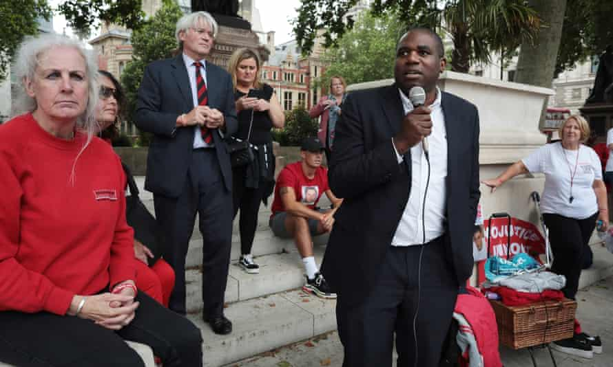 David Lammy, MP, speaking and Tory MP Andrew Mitchell.