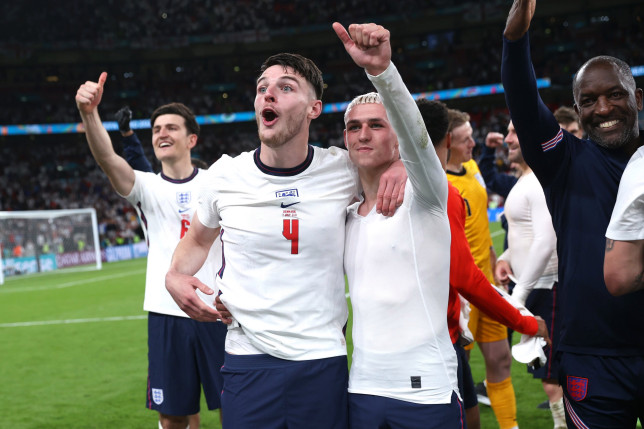Declan Rice was given extra reason to celebrate after England's win over Denmark