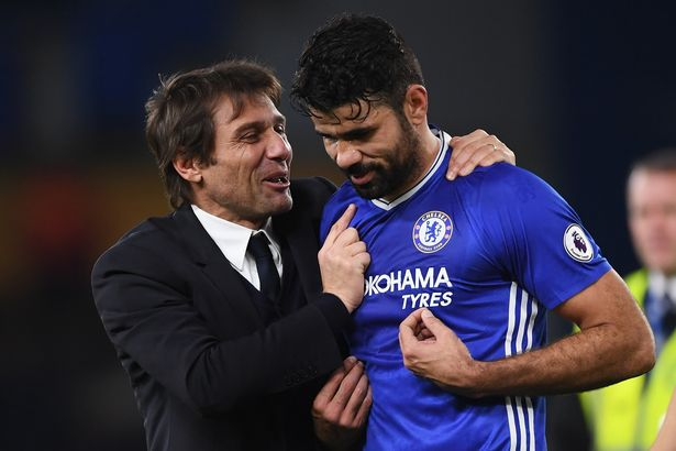 Diego Costa and Antonio Conte were on good terms at the start of his Chelsea reign