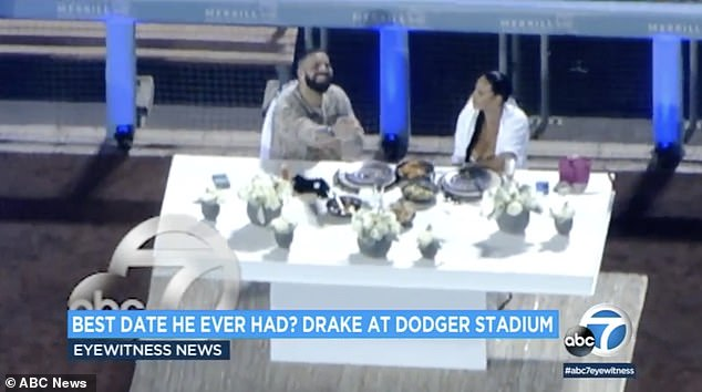 He's got game: Drake reportedly rented out Dodger Stadium for a romantic dinner date with Johanna Leia, the mom of high school basketball star Amari Bailey, on Thursday night