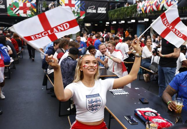 Fans watch England v Denmark, Croydon, London, UK - 07 Jul 2021