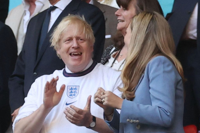Boris Johnson was in attendance at Wembley for England's victory over Denmark