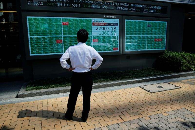 Global stocks drop; bonds, euro rise in bid for safety