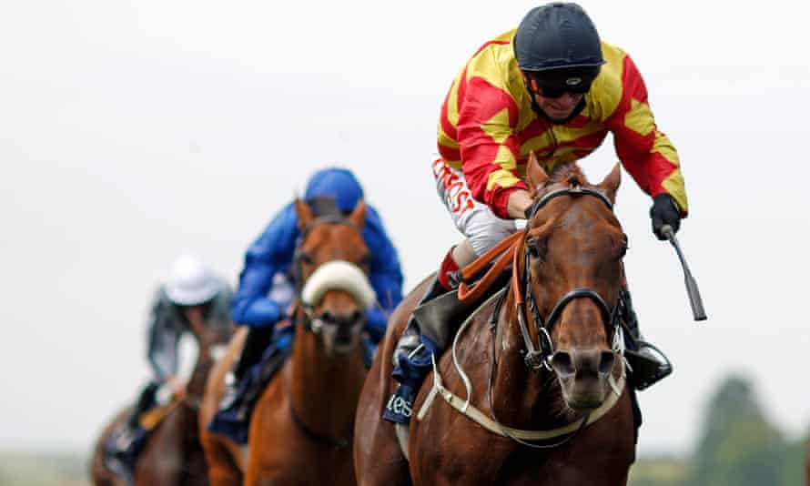 Sir Ron Priestly wins the Princess Of Wales's Stakes at Newmarket.