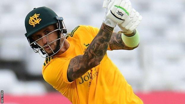 Only two batsmen have outscored Alex Hales in the T20 Blast this season