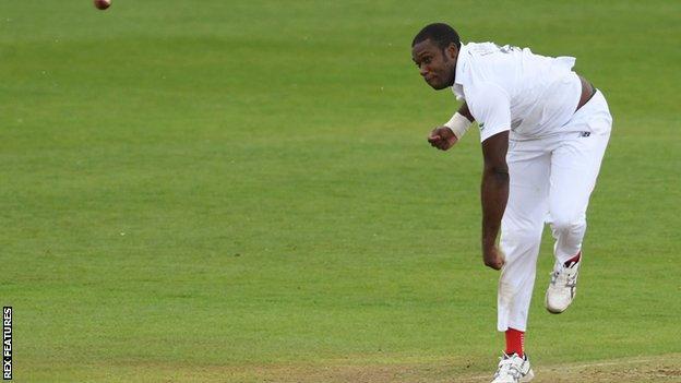 Hampshire seam bowler Keith Barker