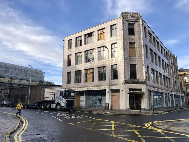 The vacant B listed building on Barrack Street was the former Robertson's furniture store