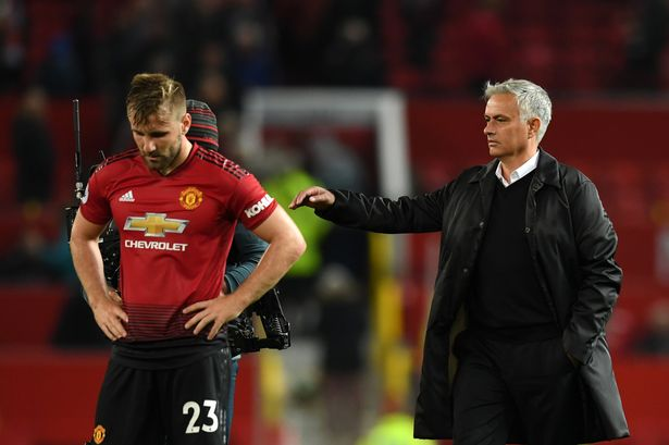 Shaw struggled with form and fitness with Mourinho in the Old Trafford dugout
