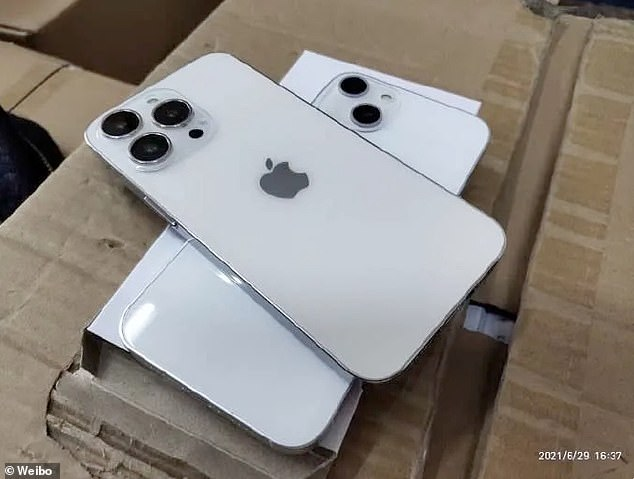 Photos purported to be of the upcoming iPhone 13 surfaced on Weibo in July and suggest the camera will have a larger 'bump' anddiagonal lens, making for better wide-angle and zoomed-in photos