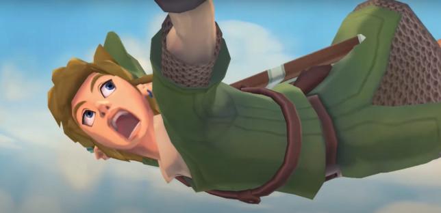 Link Skyward Sword falling