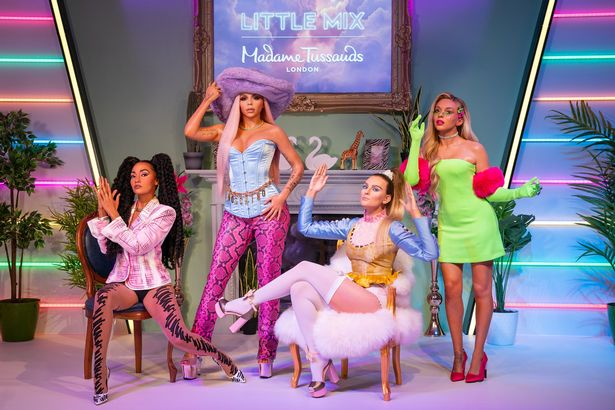 Jesy Nelson and her former Little Mix bandmates had their Madame Tussauds waxworks unveiled today