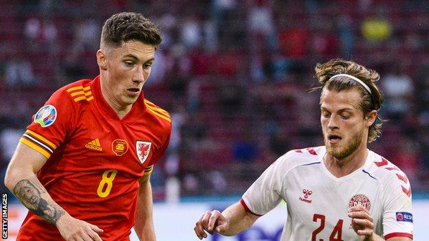 Harry Wilson (left) was part of the Wales squad at Euro 2020