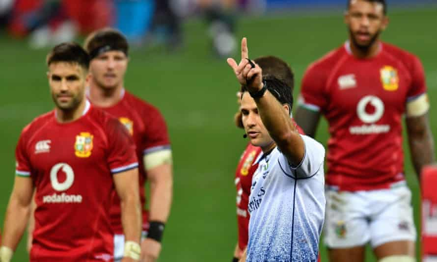 The referee, Ben O'Keeffe, ruled with an iron fist and many of the marginal decisions went South Africa's way.