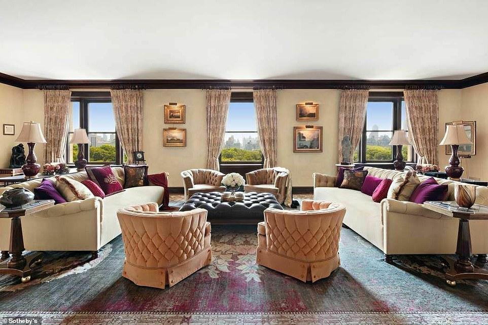 Luxury living: Michael Douglas and Catherine Zeta-Jones put their extraordinary New York apartment on the market for $21.5million