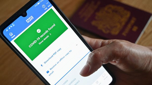 The NHS app allows people to provide proof of vaccine doses, immunity and tests (file photo)