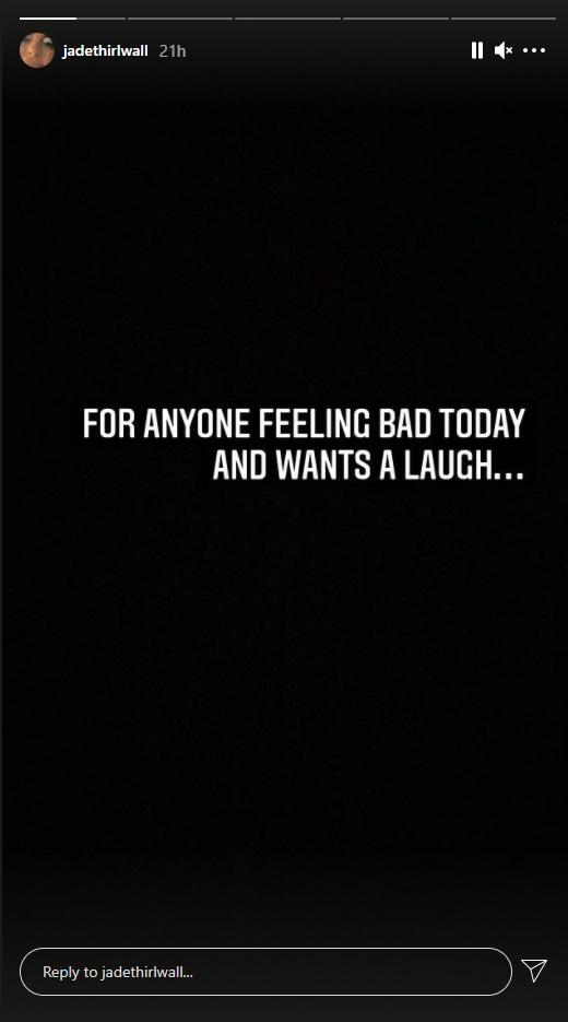 Jade Thirwall's pigeon pooing Instagram intro Story