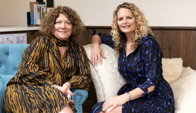 Caroline Jackson, 49, and Lisa Bonney, 55, said they knew from the day they met at a counselling training course four years ago that they would end up starting a business together.