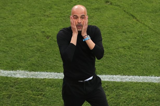 Manchester City boss Pep Guardiola during his side Champions League final defeat to Chelsea in May