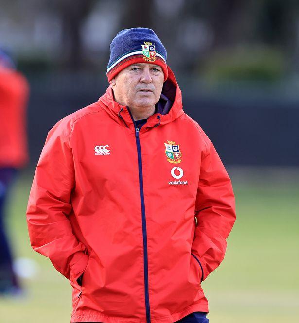 Lions head coach Warren Gatland oversees training