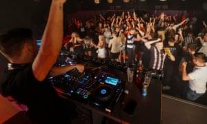 Clubbers in Brighton last week.