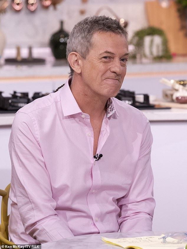 Locks:Matthew Wright's now infamous ponytail was back as he made an appearance on Thursday's episode of This Morning.