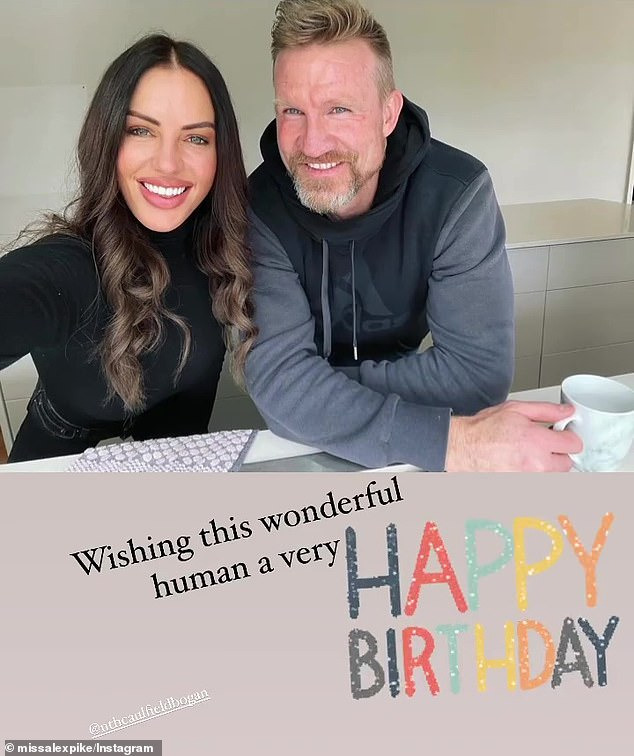 It's love! Footy WAG Alex Pike, 44, celebrated her boyfriend Nathan Buckley's 49th birthday with a romantic tribute on Instagram on Monday