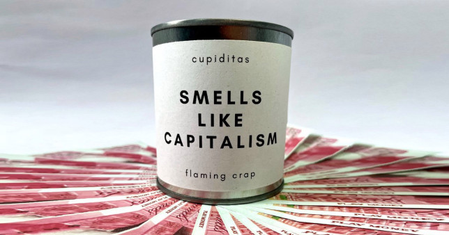 the smells like capitalism candle
