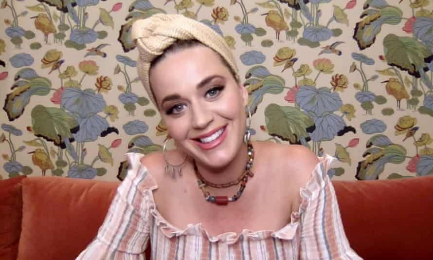 Katy Perry speaks during a Shein virtual festival benefitting the World Health Organization's Covid response.