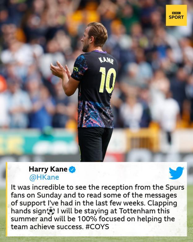Harry Kane claps Tottenham fans at Wolves