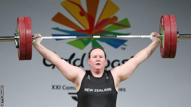 Hubbard competing in the +90kg final at the Gold Coast 2018 Commonwealth Games