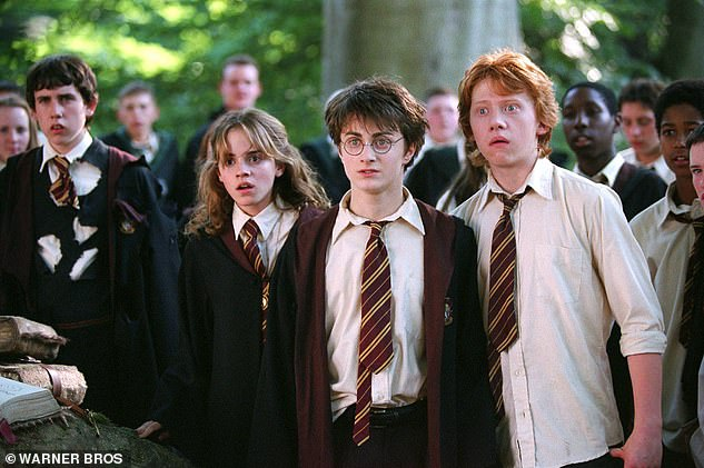 He told The Mirror : 'I was very aware early on people have very low expectations of what I'll be like, which is great because hopefully you always exceed them' (pictured with HP co-stars Emma Watson and Rupert Grint)