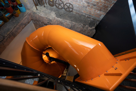 The orange slide at Pattern Church in Swindon, Wiltshire
