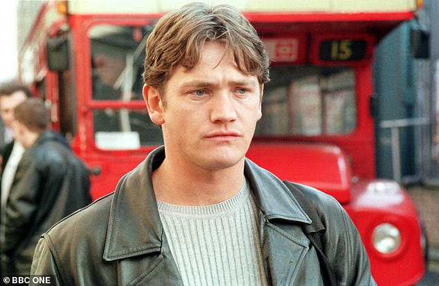 Way back when: Sid tells of how the family were about to jet off on a family holiday to Mallorca, when their father got arrested on the plane tarmac; pictured as Ricky Butcher in EastEnders in 2000
