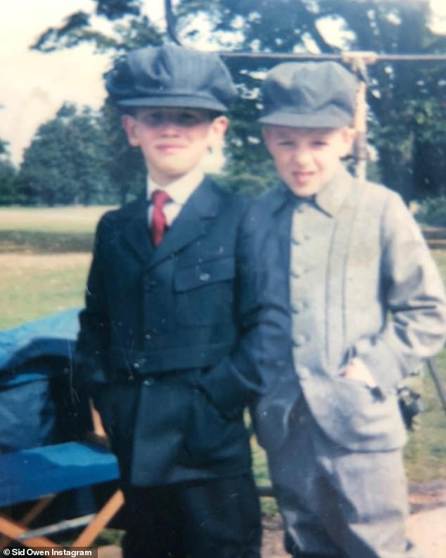 Turning to crime: As a result of their severe lack of money growing up, Sid and his brothers would roam about their community getting involved in burglaries; a young Sid is pictured, left