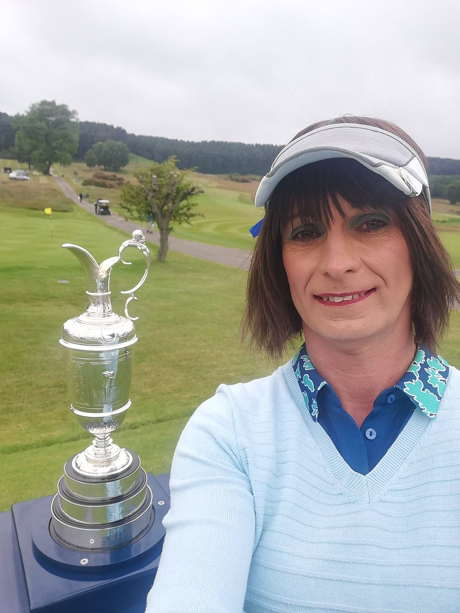 Alison (pictured) has chosen to live as a woman for more than a decade. And in late June, she made history: becoming the first ever trans female to compete on the men's golf circuit