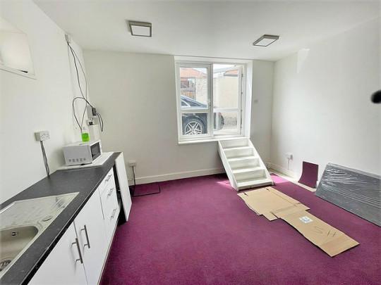 studio flat where the door is a WINDOW