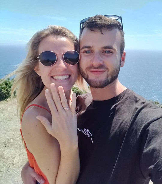 Kate and Ryan after getting engaged in May 2020. (PA Real Life/Collect)
