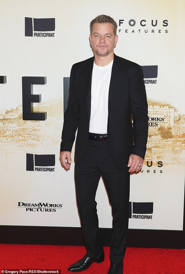 Bizarre admission: Matt Damon, seen in New York at the Stillwater premiere on July 26, insisted on Monday that he had never used the homophobic slur in his private life. He spoke out following an ill-advised revelation during an interview with The Sunday Times