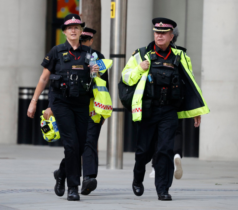 Penny Lancaster on the beat as police officer