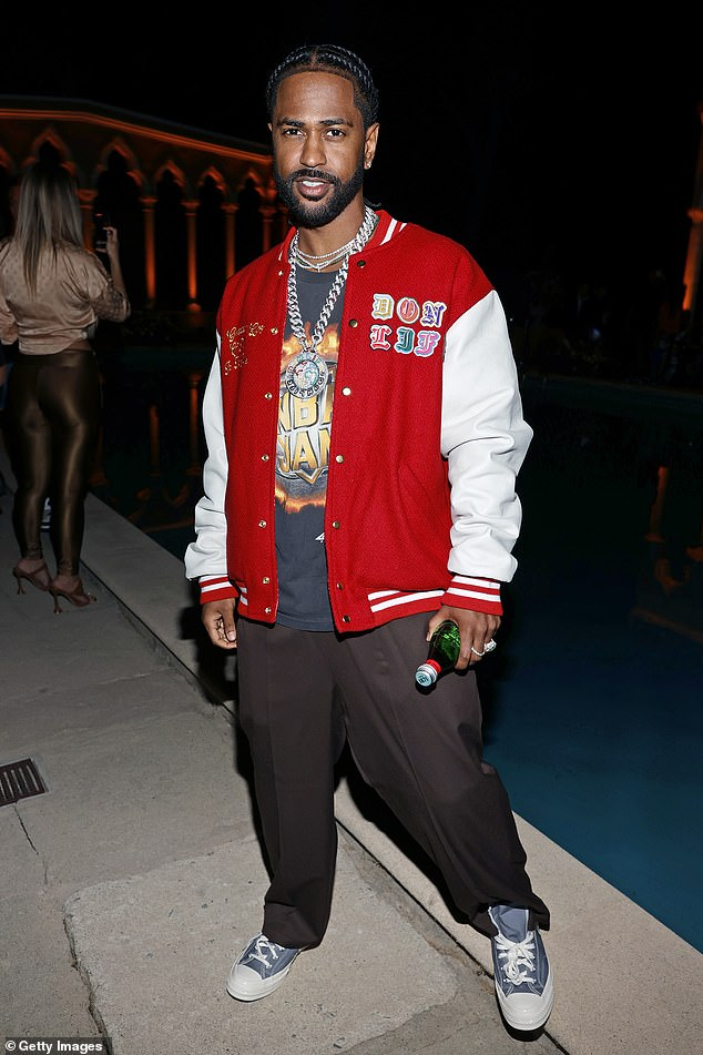 Out and about: The rapper was snapped in Beverly Hills in June at a fashion show