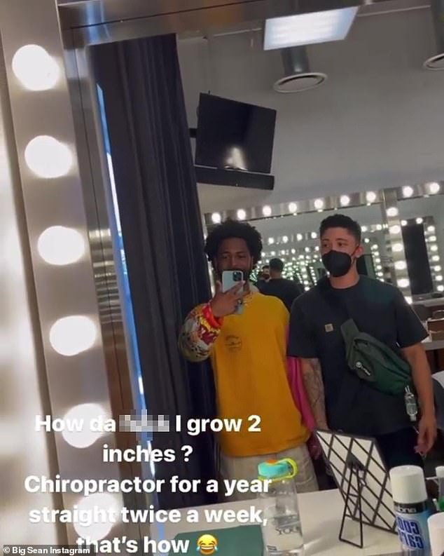 The musical artist, in an Instagram Stories post Monday, stood next to his 5'10 friend Ronnie in friend to illustrate the height differential he was referring to