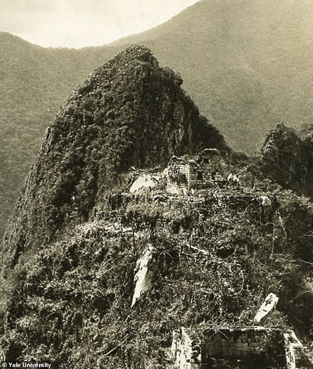 Machu Picchu is pictured during the 1912 expedition when the remains tested were first found