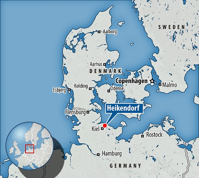 The 84-year-old kept the Panzer and the 88mm flak gun in a bunker under his home in Heikendorf, close to the northern city of Kiel