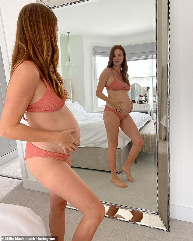 She continued: 'It turns out that time around I'm way less freaked out about watching my body changing each week'